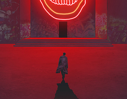 """Neon noir"" personal illustration series"