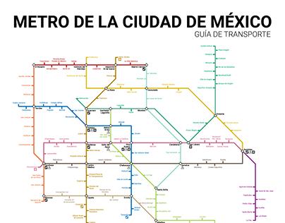 Rediseño del mapa del metro de la Ciudad de México.