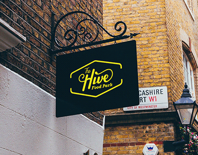 The Hive Food Park Identity Design