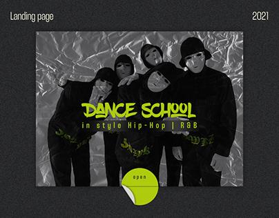 "Landing page for dance school ""DANCEmania"""