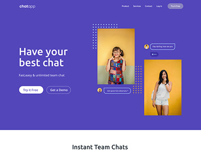 Chatapp - UI design for a hypothetical brand