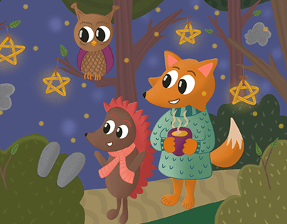 Magic forest for kids