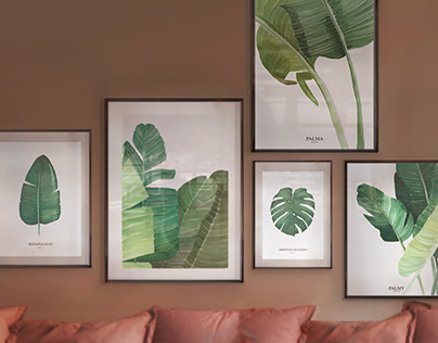 Posters design - tropical style posters