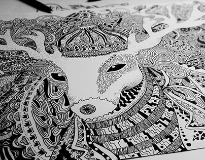 大学作品之手绘练习