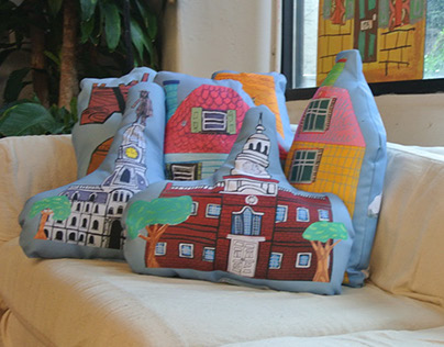 Silly City Pillow Series
