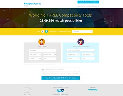 UI Design for Compatibility web Application