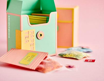 Vivid Paper Teapot Set