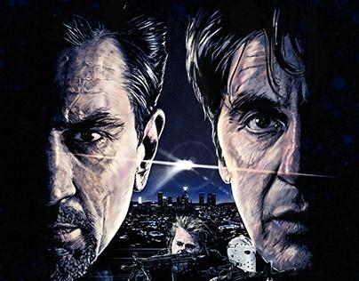 HEAT, alternative movie poster, screen print