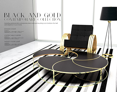 Black & Gold Furniture