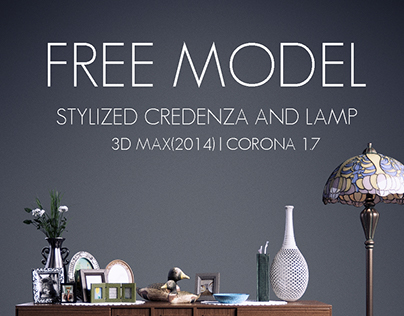 Free Model | Credenza and Lamp