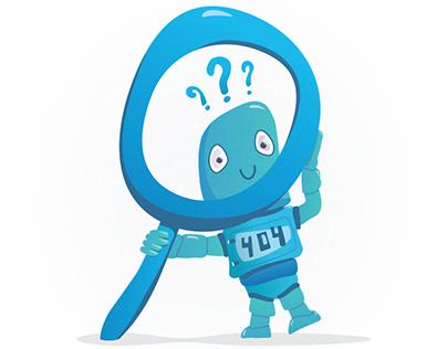 Robot 404 Illustration
