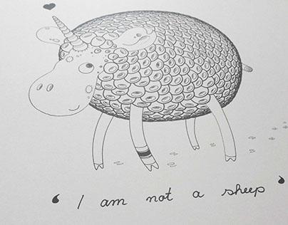 'I'm not a sheep' Merchandise