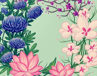Flowers of the seasons