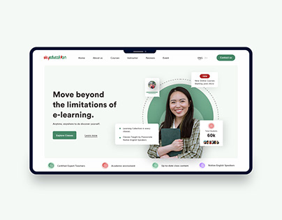 Online E-learning education website