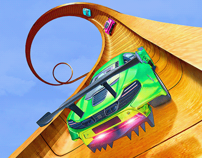 Ramp Car Stunt Game New Icon