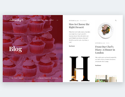 Bakersley — Blog Page Design