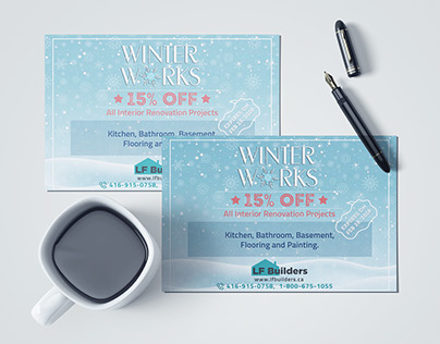 Winter discount offer post card