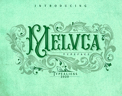 Melvca Vintage Typeface