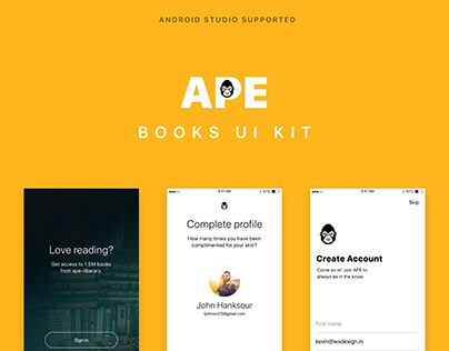 BOOKS UI KIT with Android Code