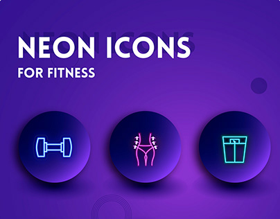 Neon Icons for instagram