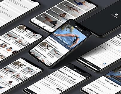 UI/UX concept app YogaMar Online