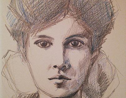 Vintage sketch portrait