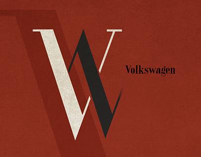 Volkswagen - BAUHAUS Style Logo