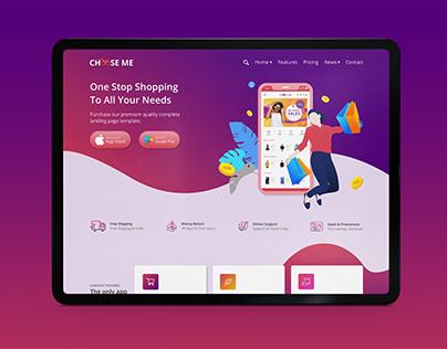 Mobile Landing Web Page - UI UX Design
