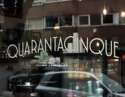 """Quarantacinque """"Serious Italian Coffee"""""""