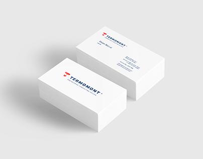 Termomont business cards. Rebranding