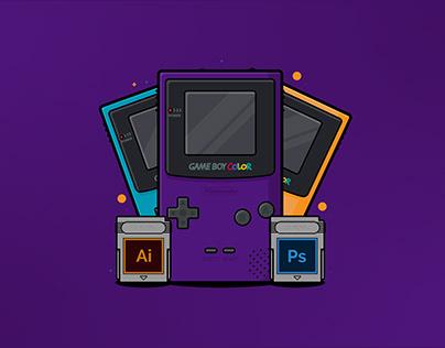 Nintendo Game Boy - Adobe Illustrator Tutorial