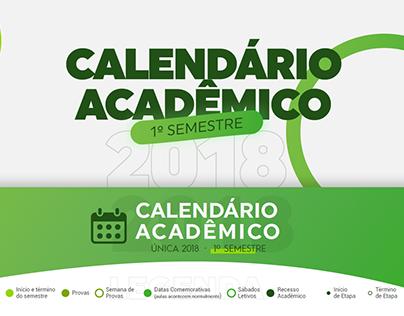 Calendário Acadêmico | Faculdade Única - 01/2018