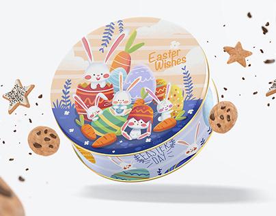Easter cookies packaging