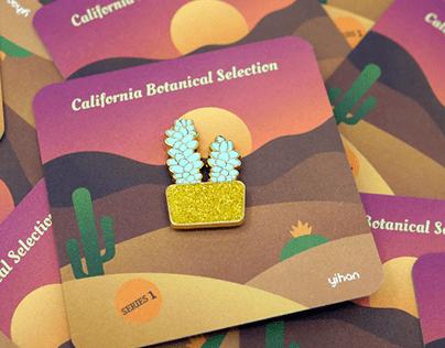 California Botanical Selection - Succulent Enamel Pin