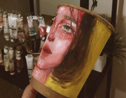 Oil color on Cup