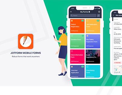 JotForm Mobile Forms App Design