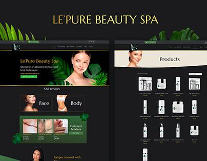 Le Pure Beauty   Website
