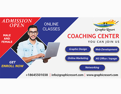 Social Media Post Banner For Online Courses Free PSD