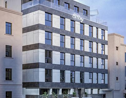 Cladding design for an Hotel facade in Algiers