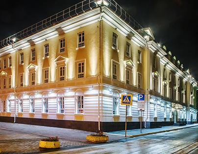 Авторский проект освещения фасада
