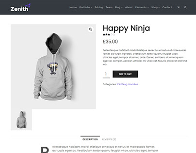 WooCommerce Product Page - Zenith WordPress Theme