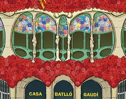 Casa Batlló giant canvas restoration