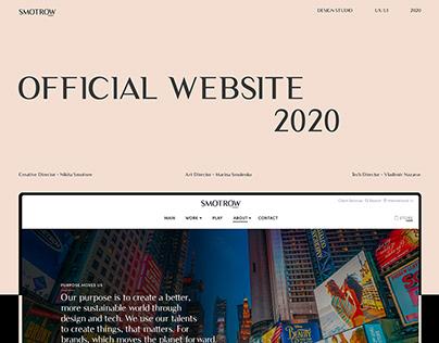Smotrow Design Official Website 2020 | Minimalistic