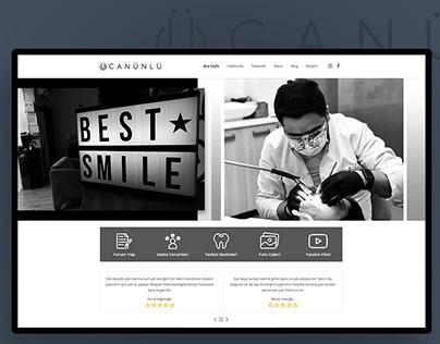 Dt. Can ÜNLÜ - Dentist Web Site Design & Application
