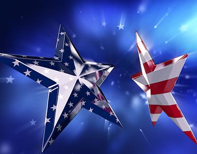 USA American Flag in Stars