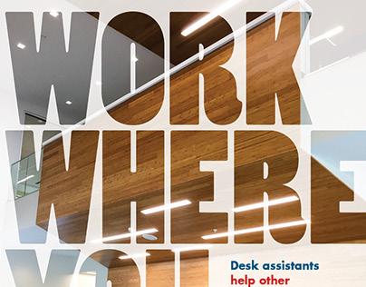 Desk Assistant Recruitment Poster