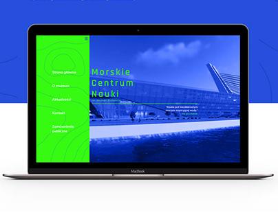 MCN - Morskie Centrum Nauki - branding/web design