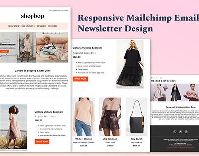 Responsive Mailchimp Newsletter Design