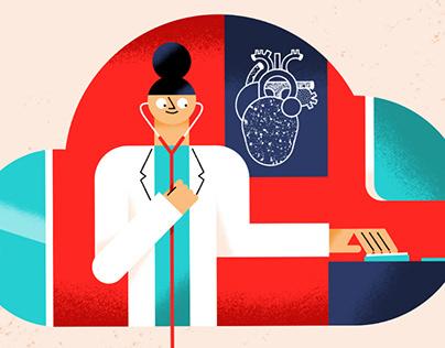 Editorial illustrations for Cardiomatics #2