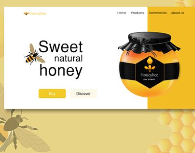 Honeybee- website landing page